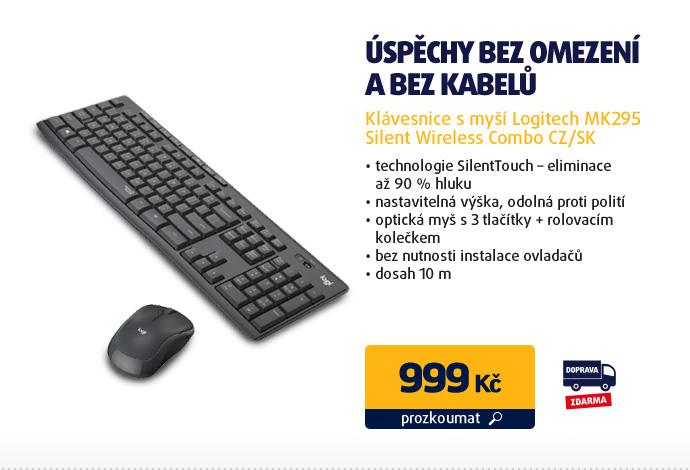 Klávesnice s myší Logitech MK295 Silent Wireless Combo CZ/SK