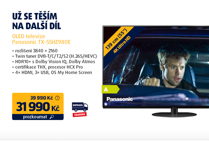 OLED televize Panasonic TX-55HZ980E