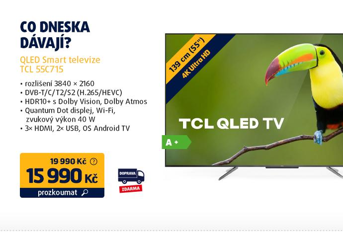 QLED Smart televize TCL 55C715