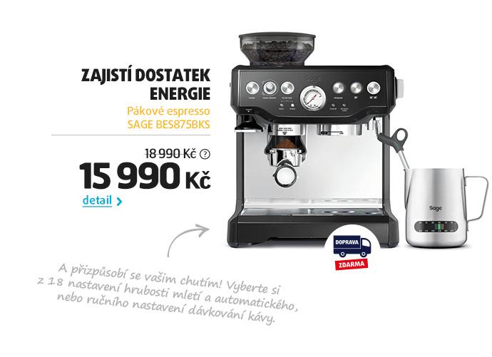 Pákové espresso SAGE BES875BKS