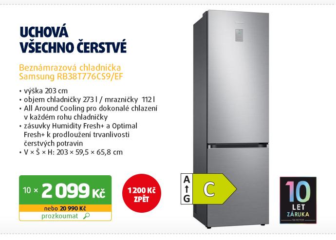 Beznámrazová chladnička Samsung RB38T776CS9/EF