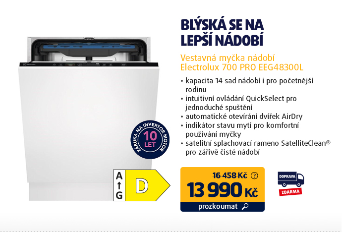 Vestavná myčka nádobí Electrolux 700 PRO EEG48300L