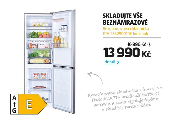 Beznámrazová chladnička ETA 236290010E Inoxlook