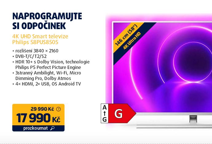 4K UHD Smart televize Philips 58PUS8505