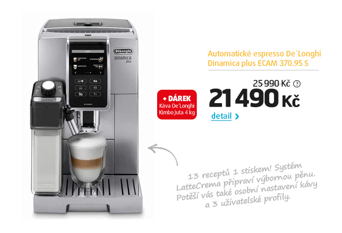 Automatické espresso De'Longhi Dinamica plus ECAM 370.95 S