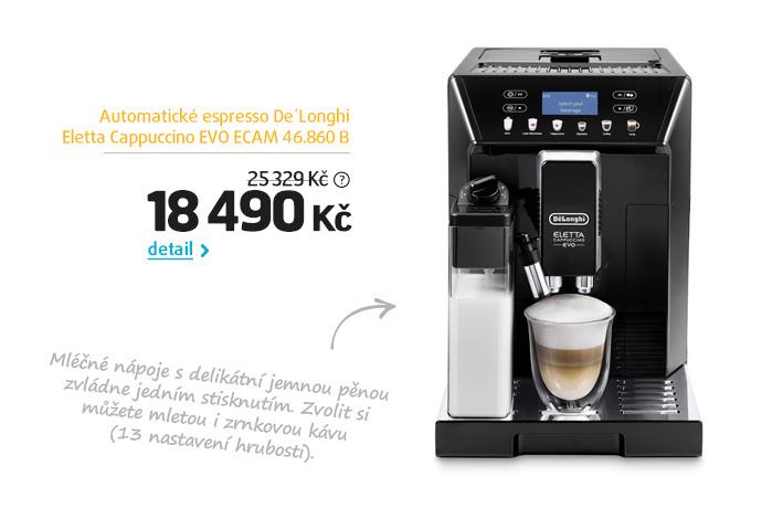 Automatické espresso De'Longhi Eletta Cappuccino EVO ECAM 46.860 B