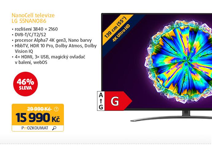 NanoCell Smart televize LG 55NANO86
