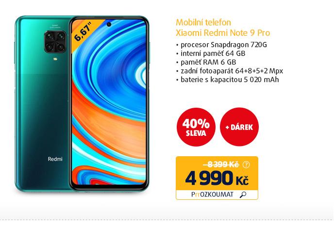 Mobilní telefon Xiaomi Redmi Note 9 Pro