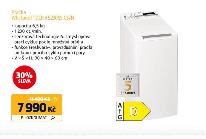 Pračka Whirlpool TDLR 65230SS CS/N