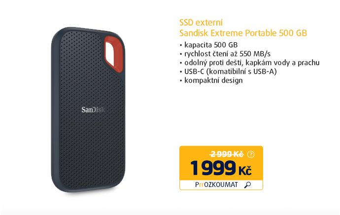 SSD externí Sandisk Extreme Portable 500 GB