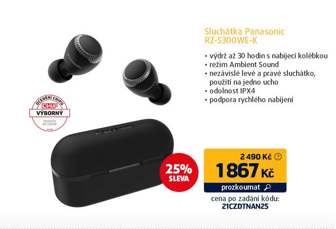 Sluchátka Panasonic RZ-S300WE-K