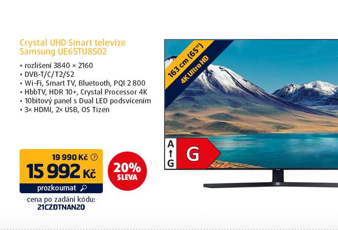 Crystal UHD Smart televize Samsung UE65TU8502