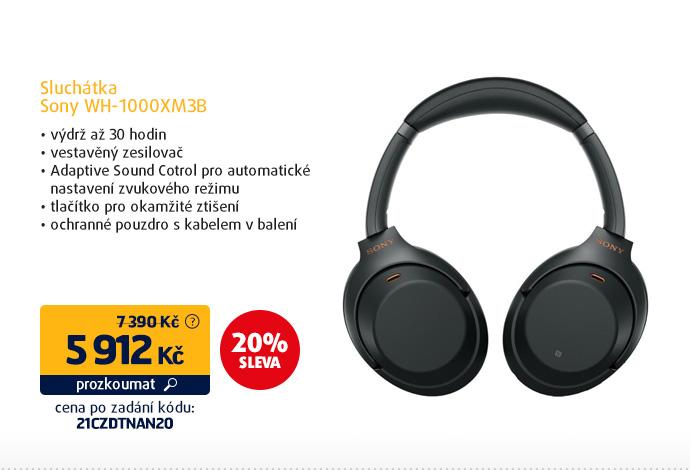 Sluchátka Sony WH-1000XM3B