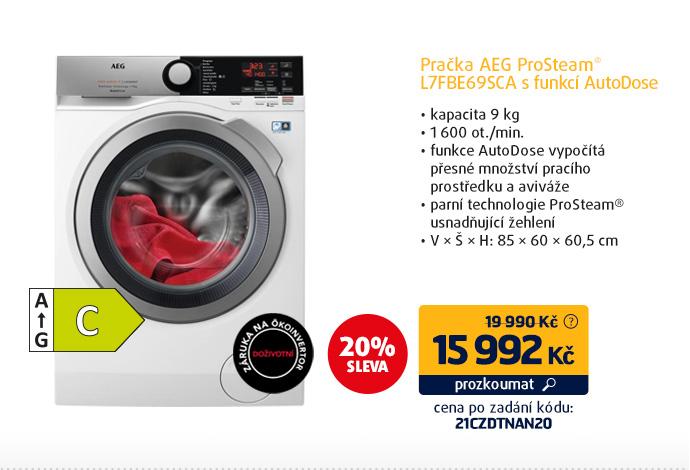 Pračka AEG ProSteam® L7FBE69SCA s funkcí AutoDose
