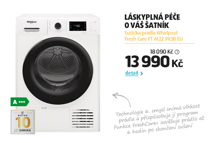 Sušička prádla Whirlpool Fresh Care FT M22 9X3B EU