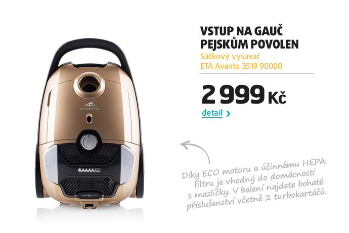 Sáčkový vysavač ETA Avanto 3519 90000