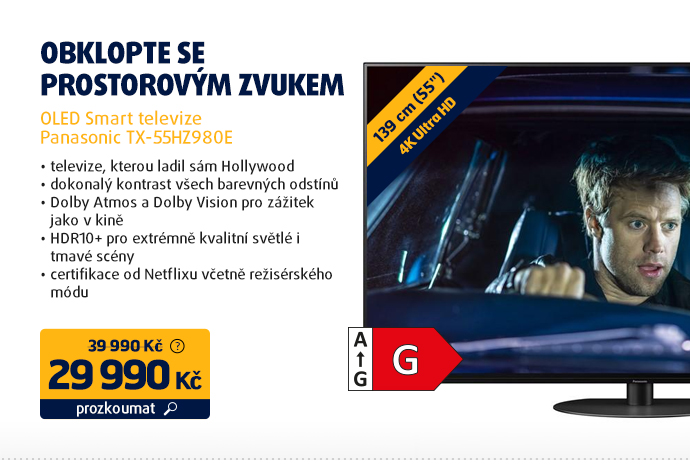 OLED Smart televize Panasonic TX-55HZ980E