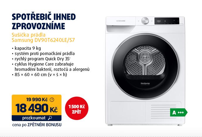 Sušička prádla Samsung DV90T6240LE/S7