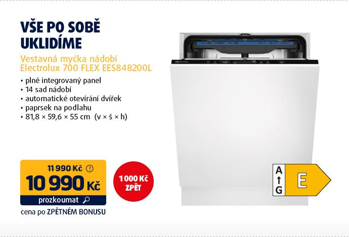 Vestavná myčka nádobí Electrolux 700 FLEX EES848200L