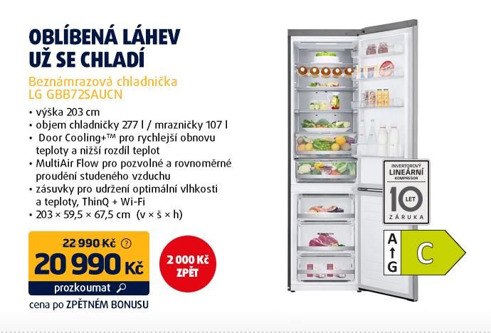 Beznámrazová chladnička LG GBB72SAUCN