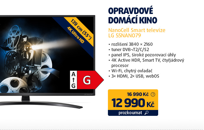 NanoCell Smart televize LG 55NANO79