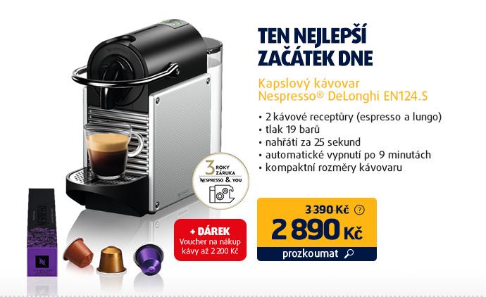 Kapslový kávovar Nespresso® DeLonghi EN124.S
