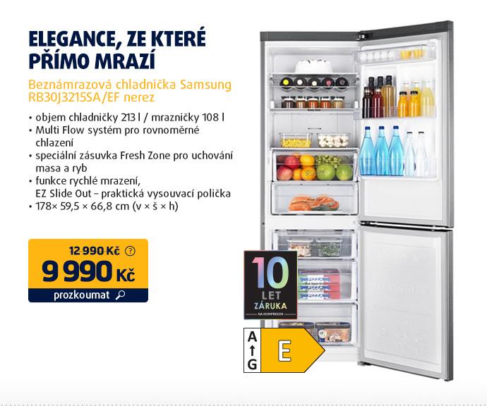 Beznámrazová chladnička Samsung RB30J3215SA/EF nerez