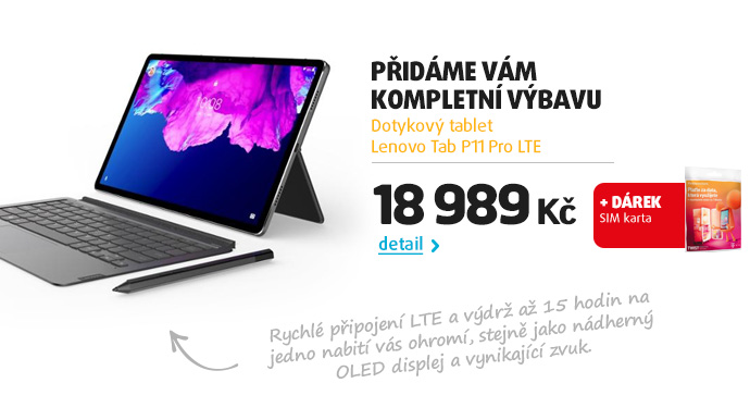 Dotykový tablet Lenovo Tab P11 Pro LTE