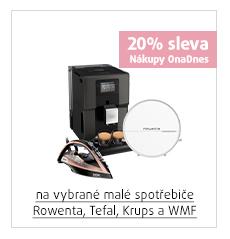 20% sleva na vybrané malé spotřebiče Rowenta, Tefal, Krups a WMF