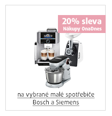 20% sleva na vybrané malé spotřebiče Bosch a Siemens