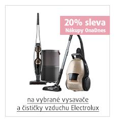 20% sleva na vybrané vysavače a čističky vzduchu Electrolux
