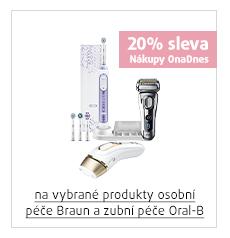 20% sleva na vybrané produkty osobní péče Braun a zubní péče Oral-B