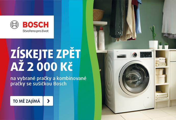 ZÍSKEJTE ZPĚT AŽ 2 000 Kč na vybrané pračky a kombinované pračky se sušičkou Bosch