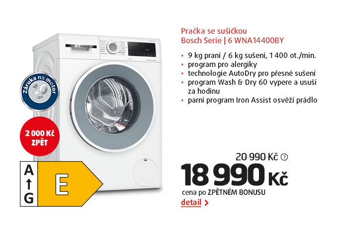 Pračka se sušičkou Bosch Serie | 6 WNA14400BY