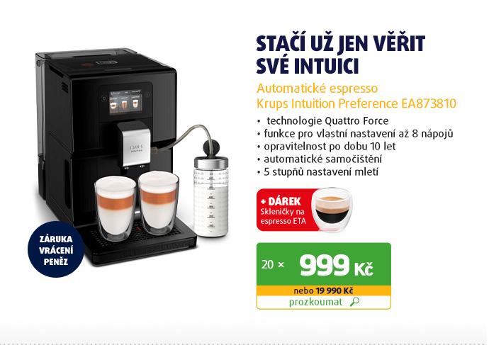 Automatické espresso Krups Intuition Preference EA873810