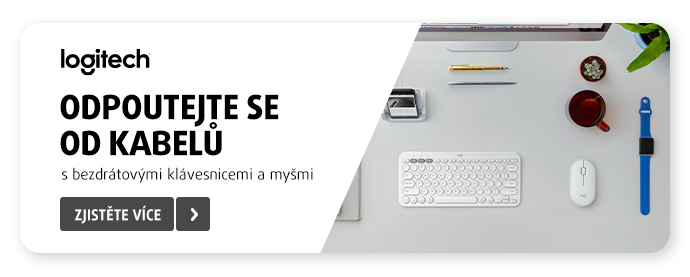 Stylové klikání s vybranými klávesnicemi a myšmi Logitech
