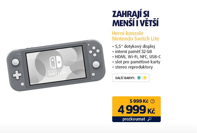 Herní konzole Nintendo Switch Lite