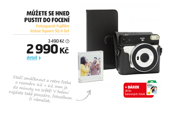 Fotoaparát Fujifilm Instax Square SQ 6 Set