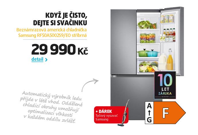 Beznámrazová americká chladnička Samsung RF50A5002S9/EO stříbrná