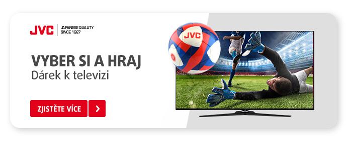 To je gól! K vybraným televizím JVC získáte dárek