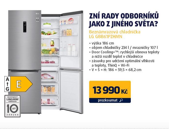 Beznámrazová chladnička LG GBB61PZHMN