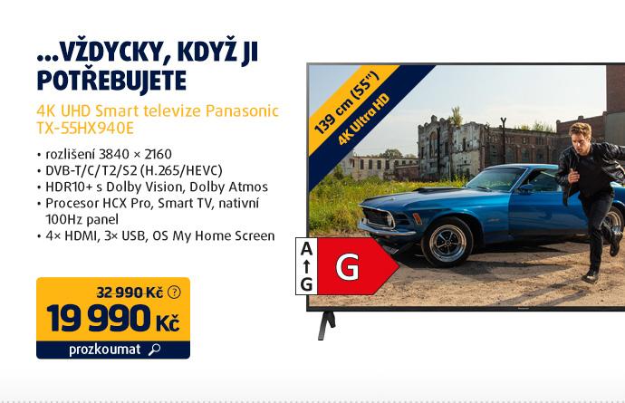 4K UHD Smart televize Panasonic TX-55HX940E